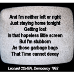 democracy leonard cohen