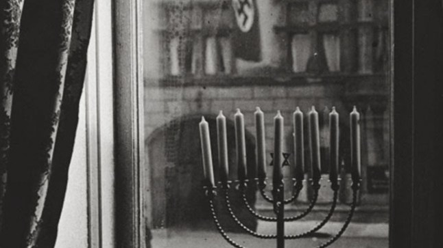 1931 Menorah with Nazi Flag