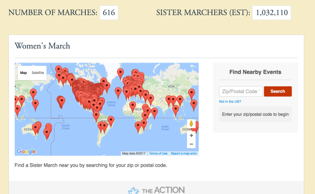 women march around the world