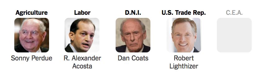 trump cabinet waiting