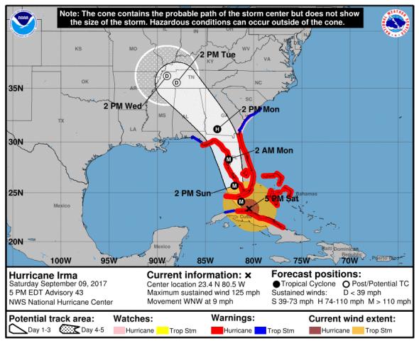 Hurricane Irma news streams and webcams