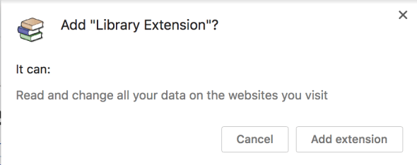 library extension warning