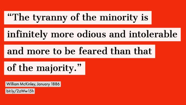 tyranny of minority