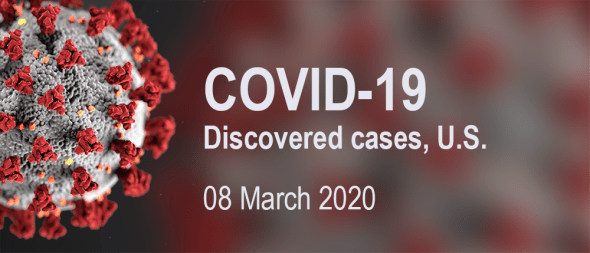 COVID-19 discovered cases – 08 March 2020