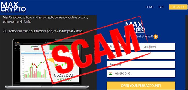 Max Crypto Review :- Scam Crypto Robot Exposed With Proofs!