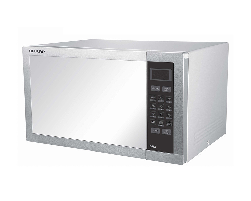 sharp microwave 34 l silver with grill r77 at