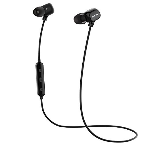 Mpow Bluetooth Headphones Wireless Sport Earbuds, Upgraded Wearing Comfort, In-Ear Earphones for Running ( 3 Pairs Eartips and A Carrying Case included)