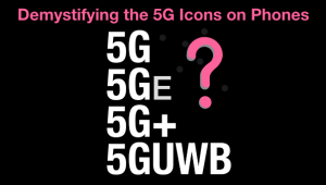 5G Icons on Phones