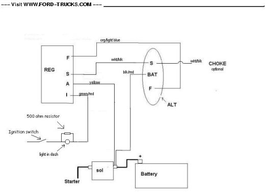 Alternator 65 Mustang Wiring Diagram