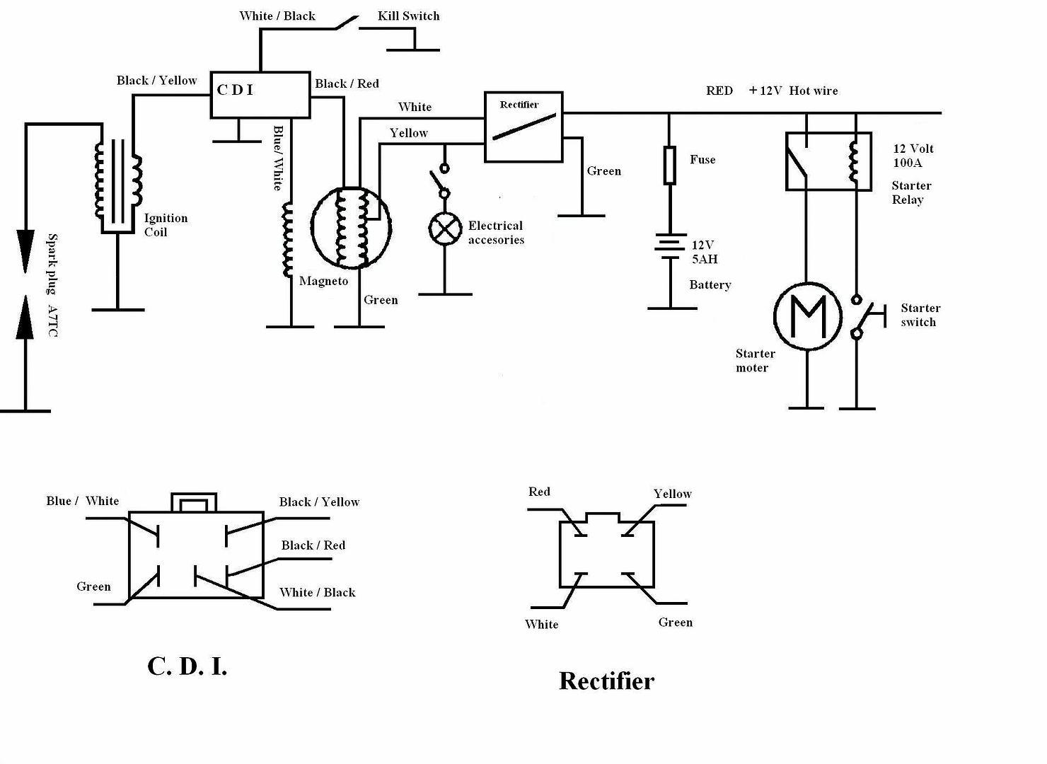 125cc Taotao Atv Wiring Diagram
