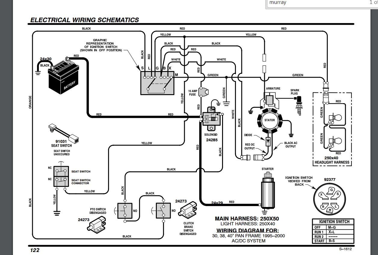 Wiring Diagram For Craftsman Dyt