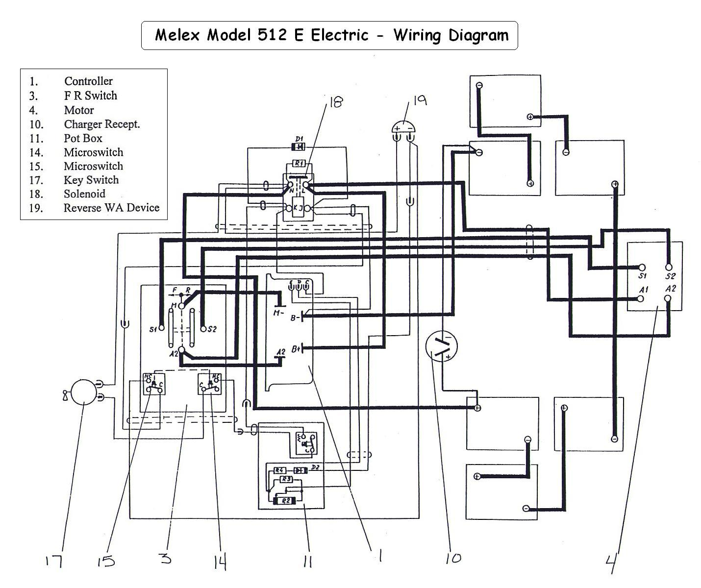Cushman Golfster 3 Wheel Golf Cart 36 Volt Wiring Diagram
