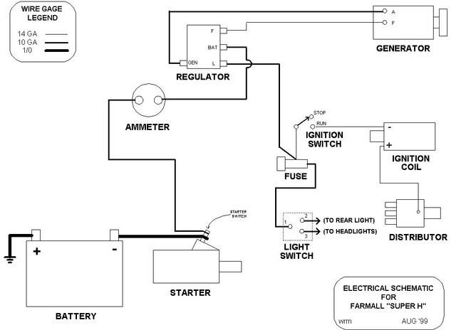 farmall tractor wiring for older  wiring diagram solid