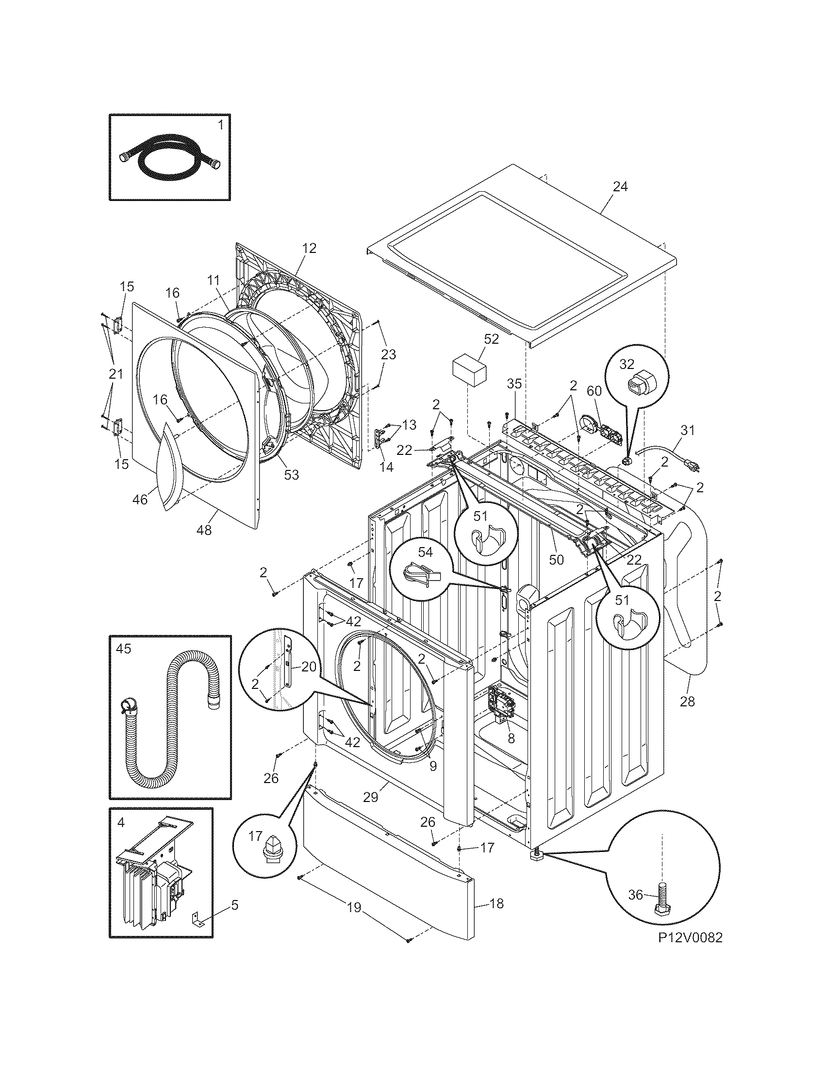 Frigidaire Affinity Washer Parts Diagram