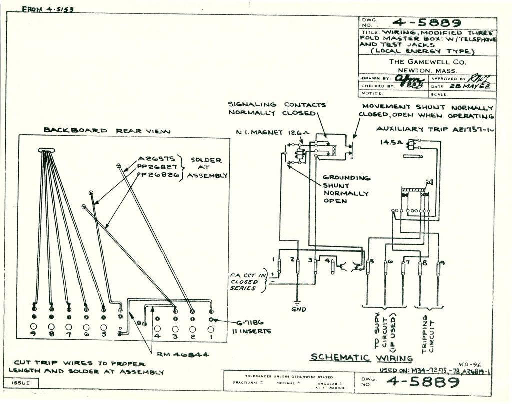 Gamewell Fire Alarm Box Wiring Diagram