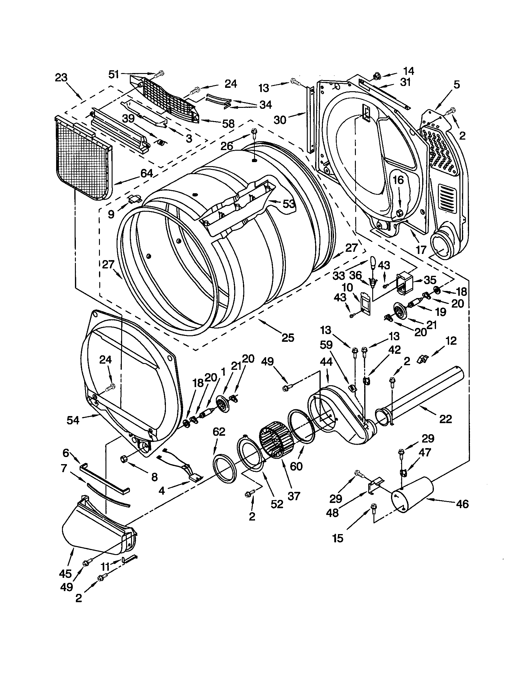Kenmore He3t Washer Parts Diagram