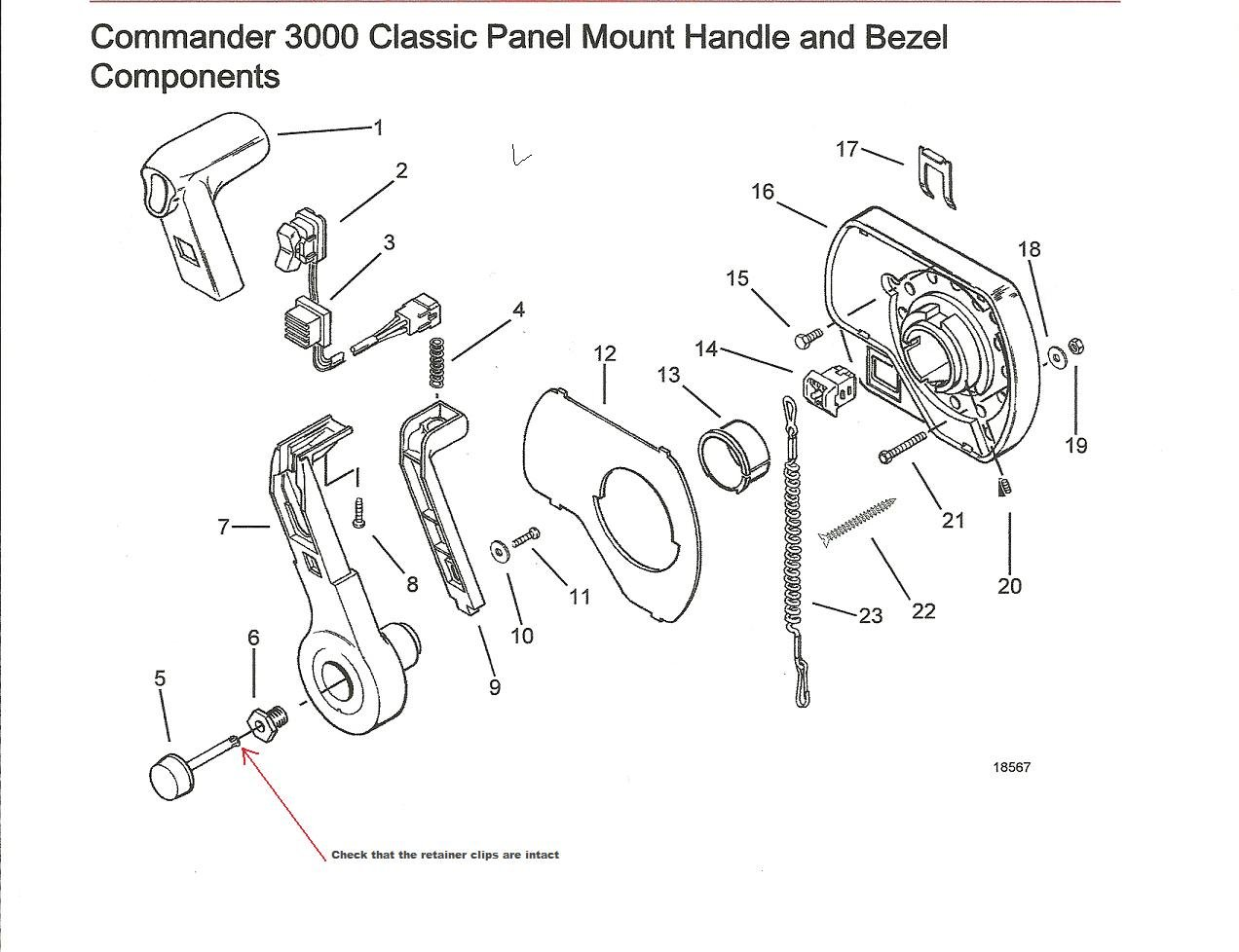 Quicksilver Throttle Control Parts Diagram