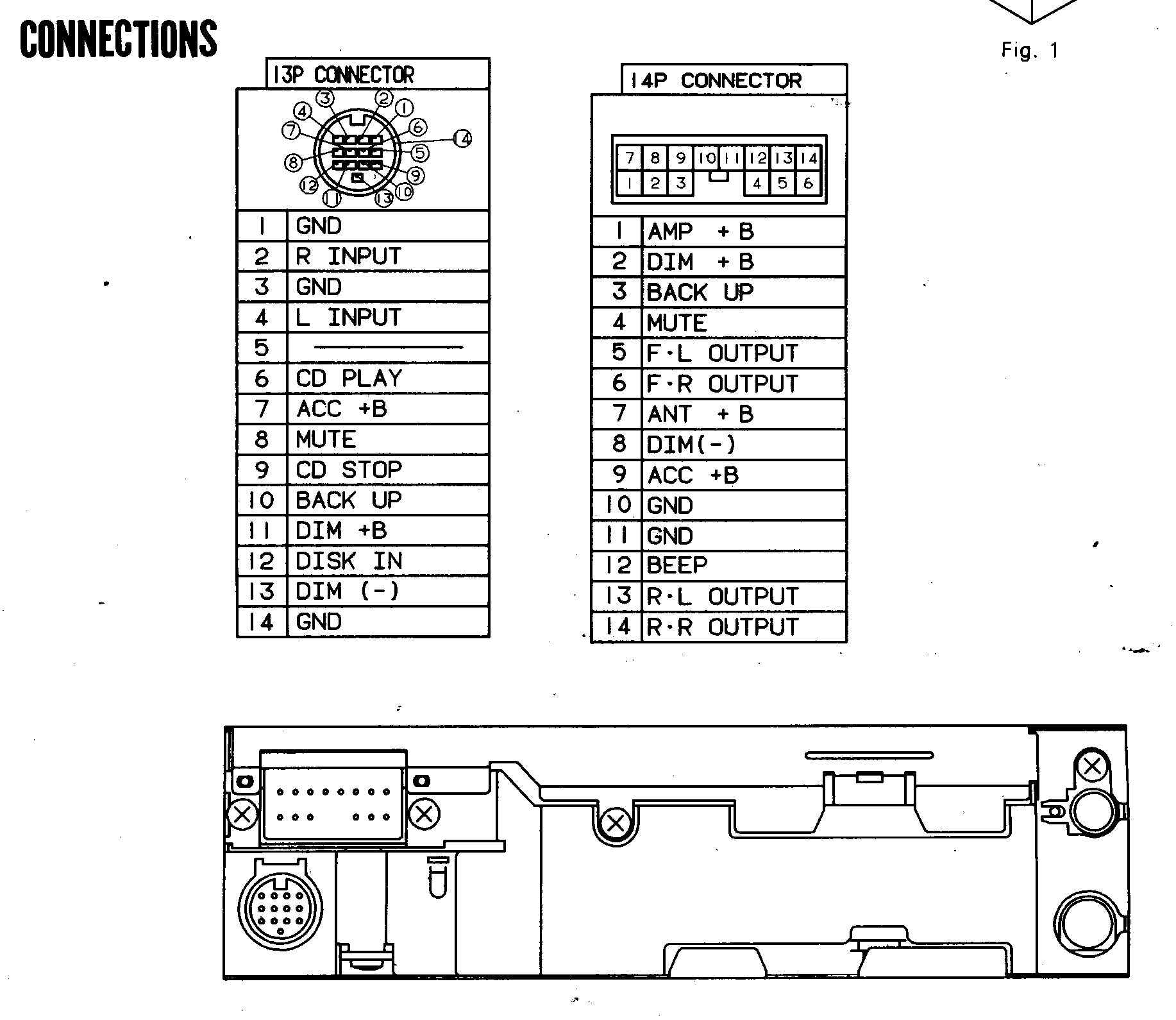 Wiring Diagram For A Panasonic Car Stereo Model Number Cq