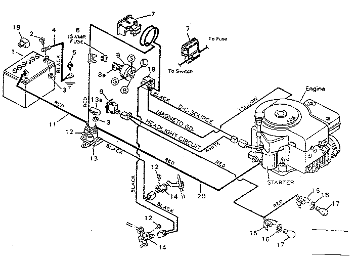 Wiring Diagram Of Charging System On Craftsman Riding
