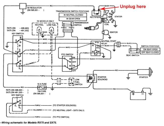 john deere 445 wiring diagram starter wiring diagram