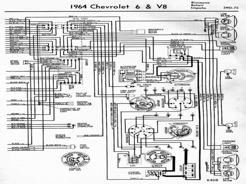 Wiring Diagram 1972 Chevy Truck Alternator 1963 Chevrolet  Wiring Forums