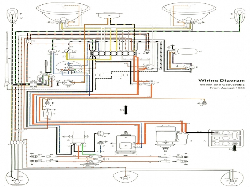 Wiring Diagram Vw Beetle Sedan And Convertible 1961 1965 ...