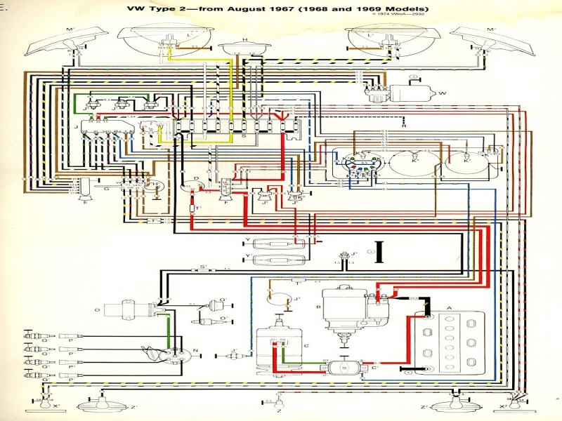 1968-69 Bus Wiring Diagram | Thegoldenbug