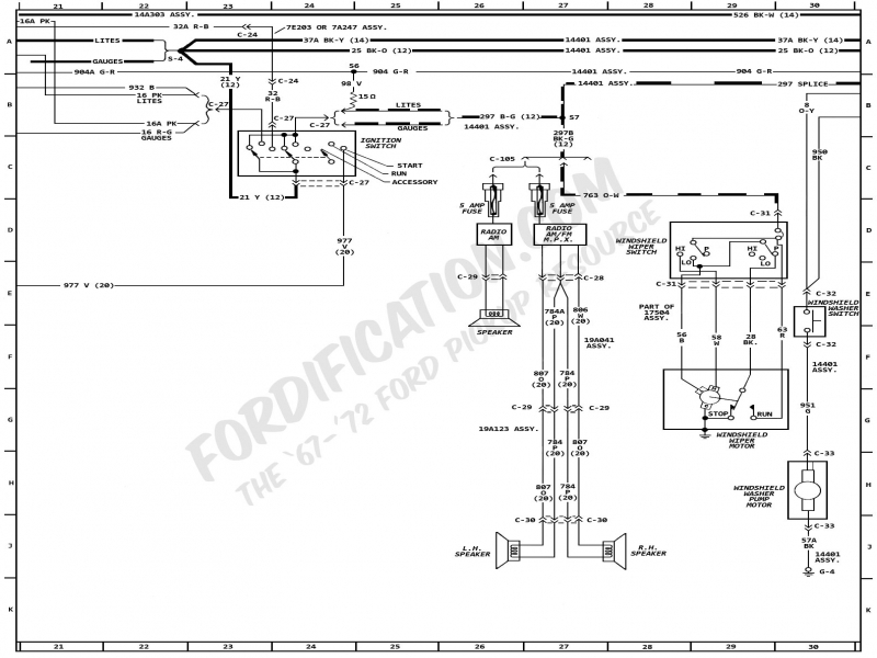 1972 Ford Ignition Switch Wiring Diagram  Wiring Forums