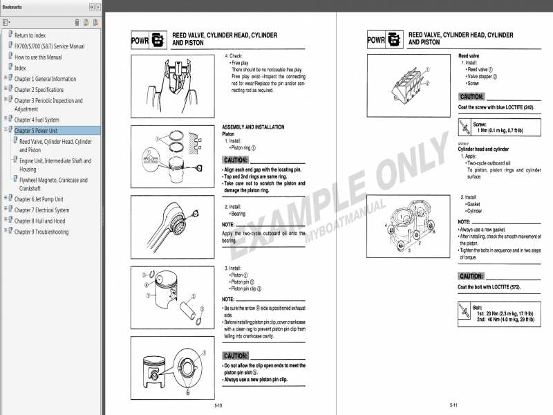 Service Manual 96 waverunner 650
