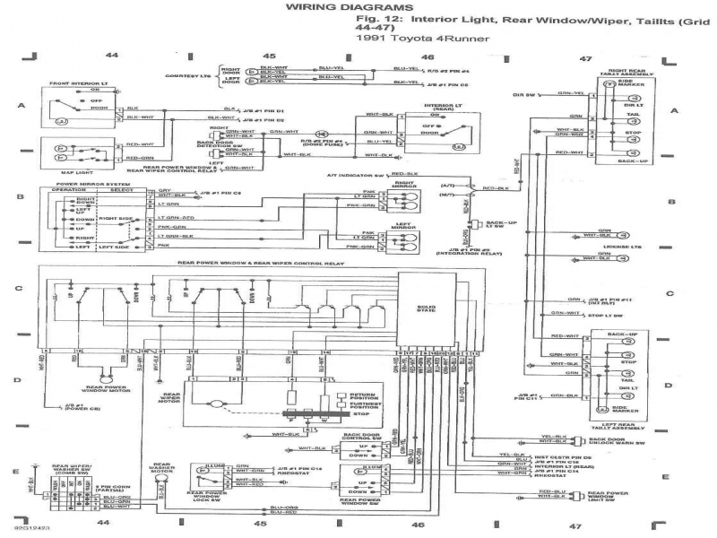 Attractive 1992 Toyota Stereo Wiring Diagram Mold - Electrical and ...