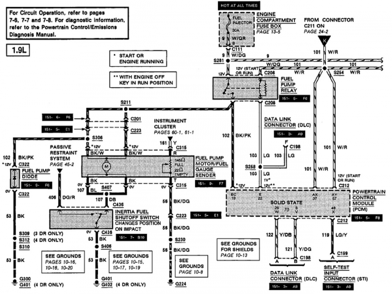 1994 Ford Escort Wiring Diagram - Gooddy