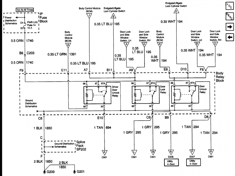 2000 Chevy Trailblazer Wiring Diagram
