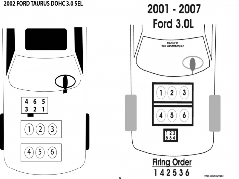 2001 ford taurus firing order diagram