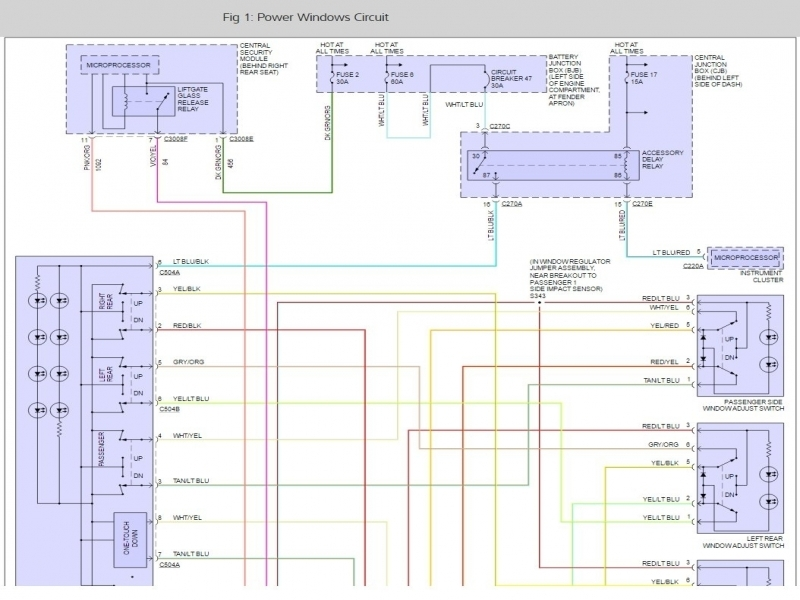 2003 Ford Explorer Power Window Wiring Diagram - Wiring Forums