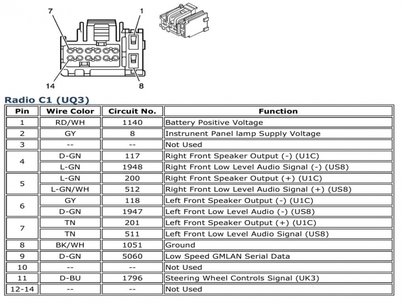 gm speaker wiring diagram