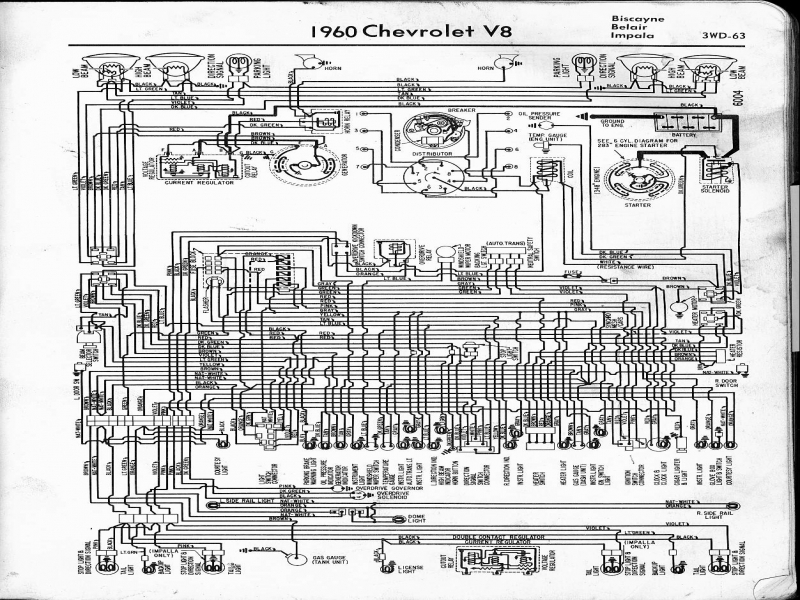 1960 Chevrolet Impala Electrical Wiring Diagram - Wiring ...