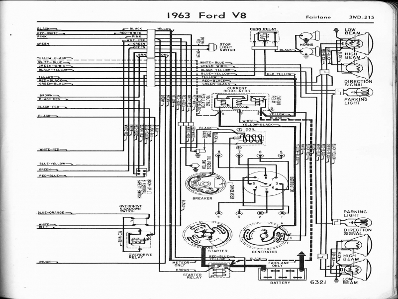 1955 ford voltage regulator wiring diagram