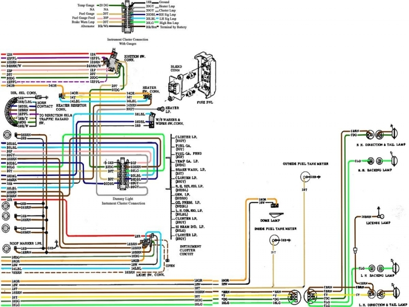 1971 chevelle starter wiring diagram