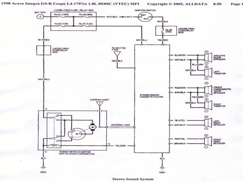 Acura Integra Radio Wiring Diagram  Wiring Forums