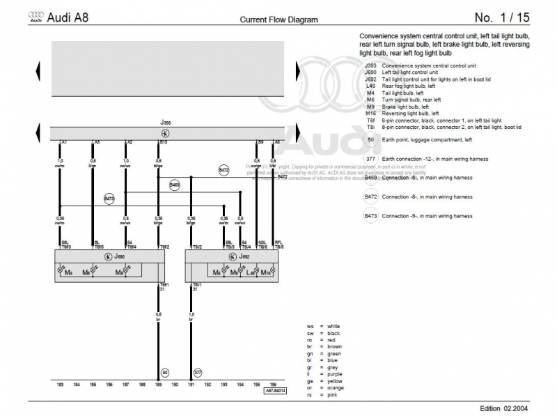 Audi A6 Stereo Wiring Diagram - free download wiring diagrams