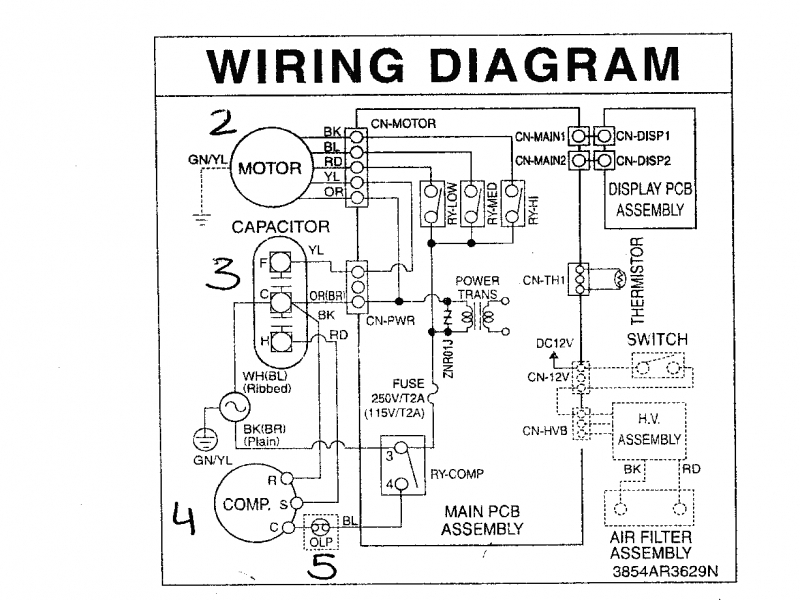Ajj10dfv1 wiring diagram air conditioner