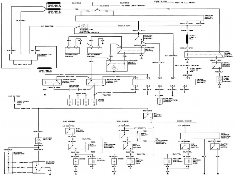 1987 ford bronco fuel pump relay diagram