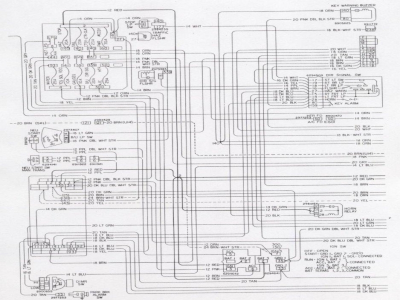 1971       Camaro    Turn Signal Wiring    Diagram     Wiring Forums