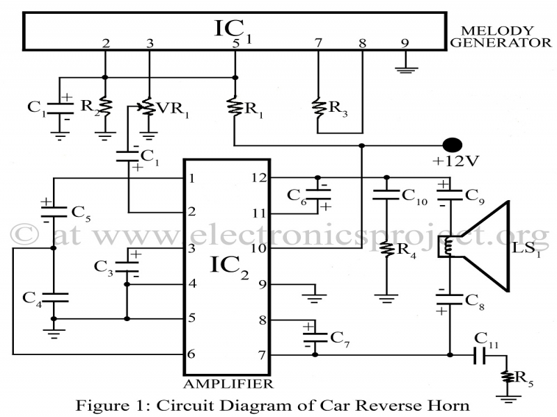 Car Reverse Horn – Electronics Project