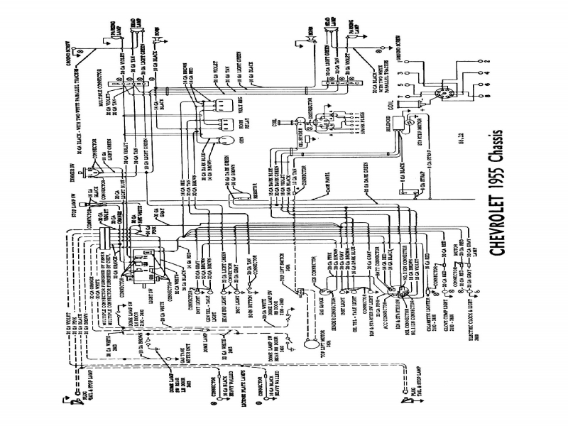 1955 Chevy Penger Car Wiring Diagram  Wiring Forums