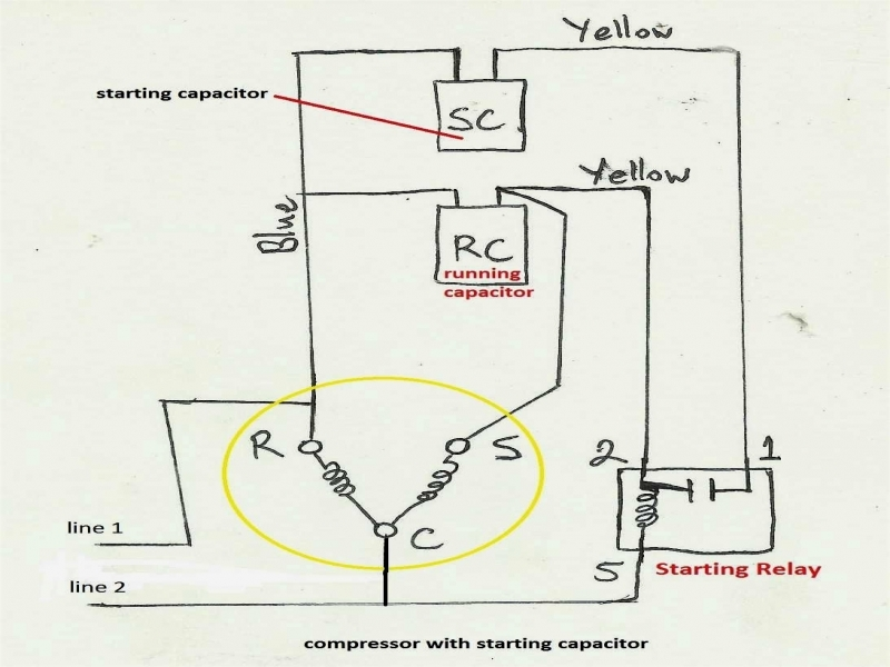 pictoral hvac compressor diagram