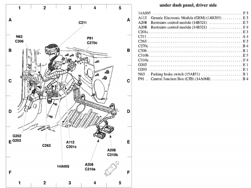 2002 Ford Taurus Exhaust System Diagram