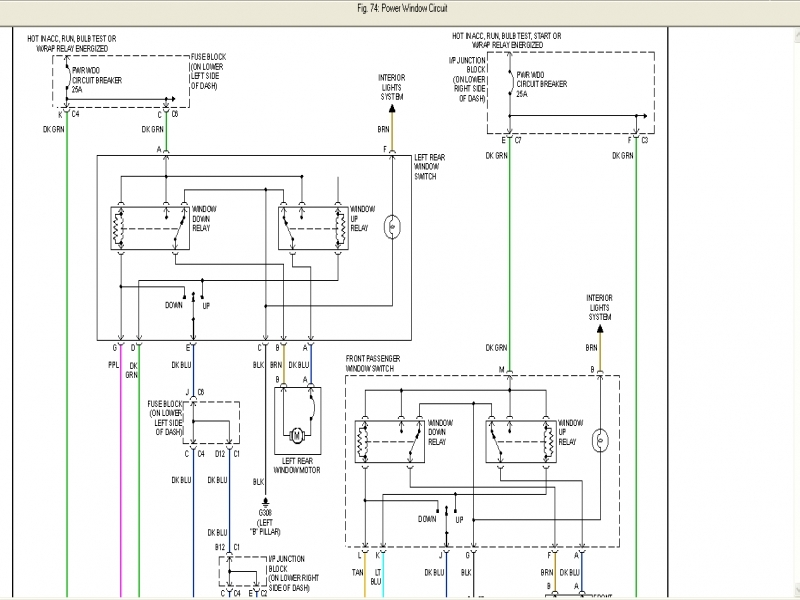 Chevy Power Window Wiring Diagram  Wiring Forums