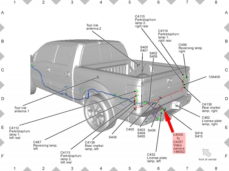 Ford F150 F250 Install Rearview Backup Camera How To - Ford-Trucks