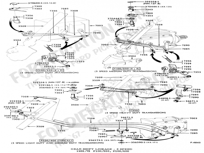 1965 Ford F100 Transmission Linkage Diagram